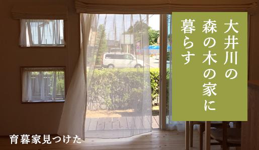 大井川の森の木の家に暮らす